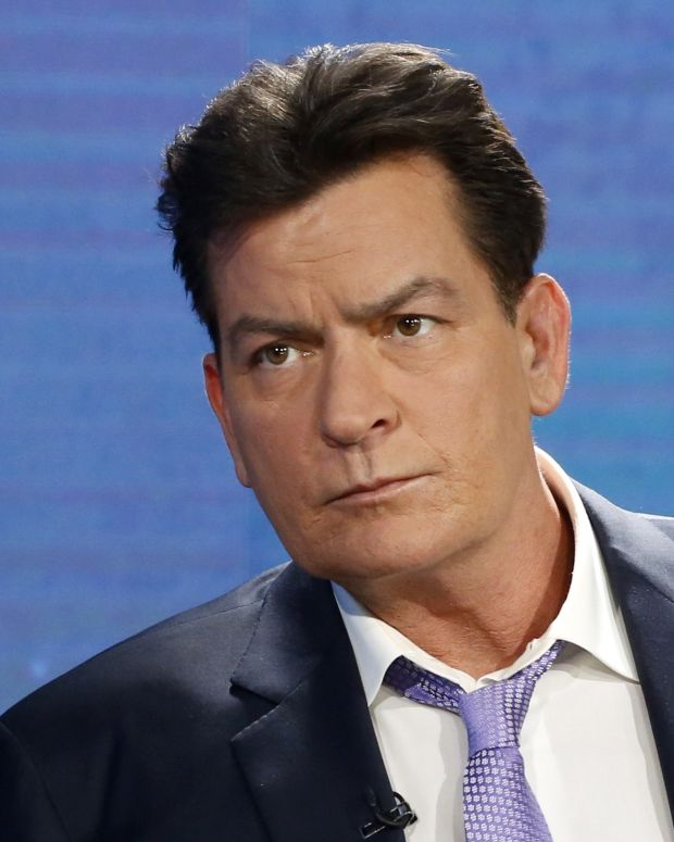 Charlie Sheen Wishes Trump Dead On Twitter Promo Image