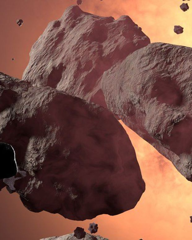 Large Asteroid Dubbed 'The Rock' Passing By Earth Promo Image
