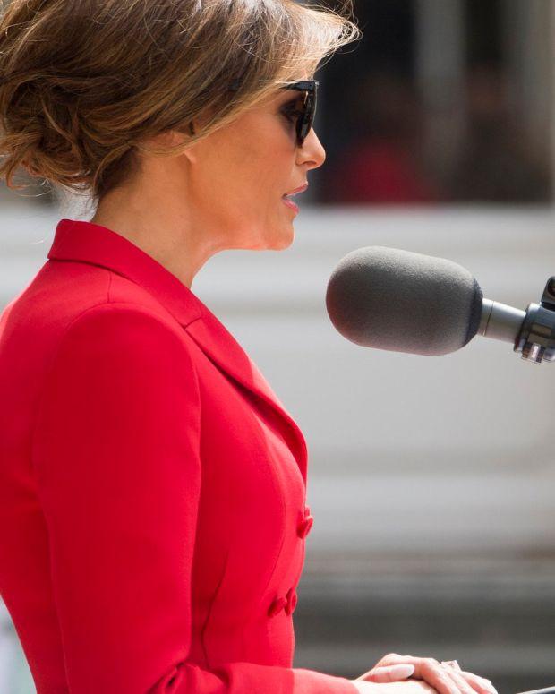 Melania Trump's Speech Overshadowed By Dress Choice (Photos) Promo Image