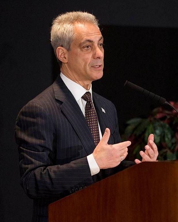 Emanuel Declares Chicago Trump-Free Zone Promo Image