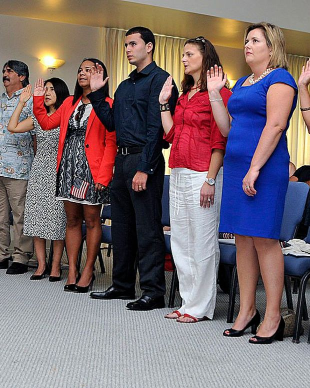 Lawsuit: Remove 'So Help Me God' From Citizenship Oath Promo Image