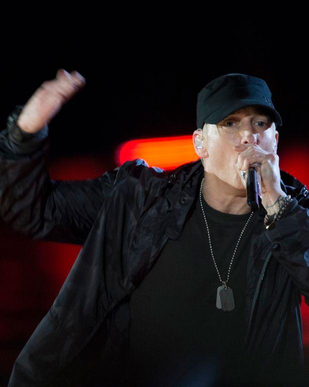 Eminem Leads Anti-Trump Chant During Concert (Video) Promo Image