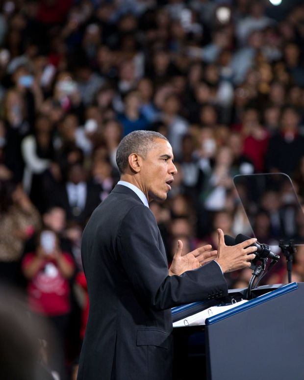 Obama Returns To Campaigning For Democratic Candidates Promo Image