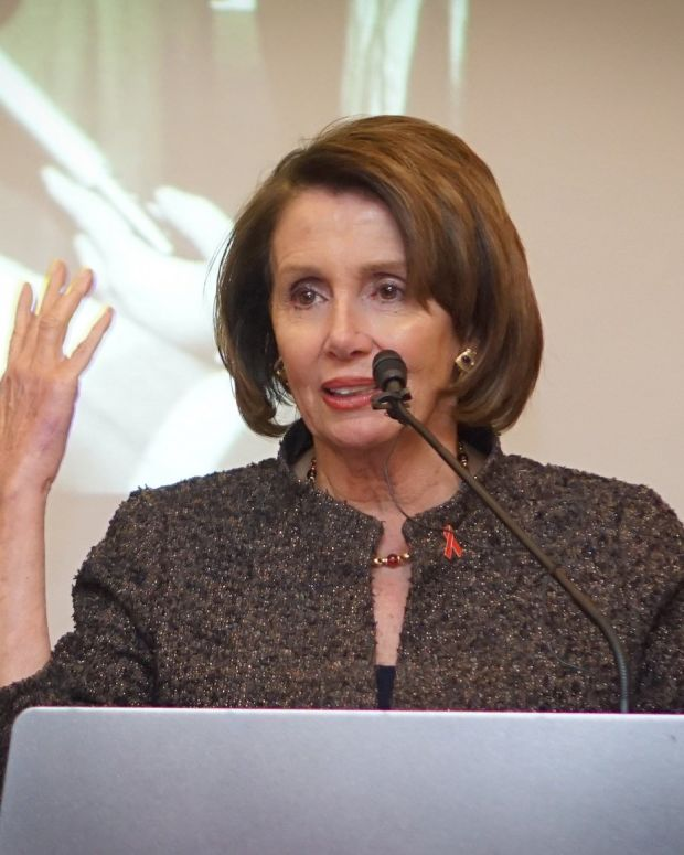 Pelosi Defends John Conyers Amid Harassment Allegations Promo Image