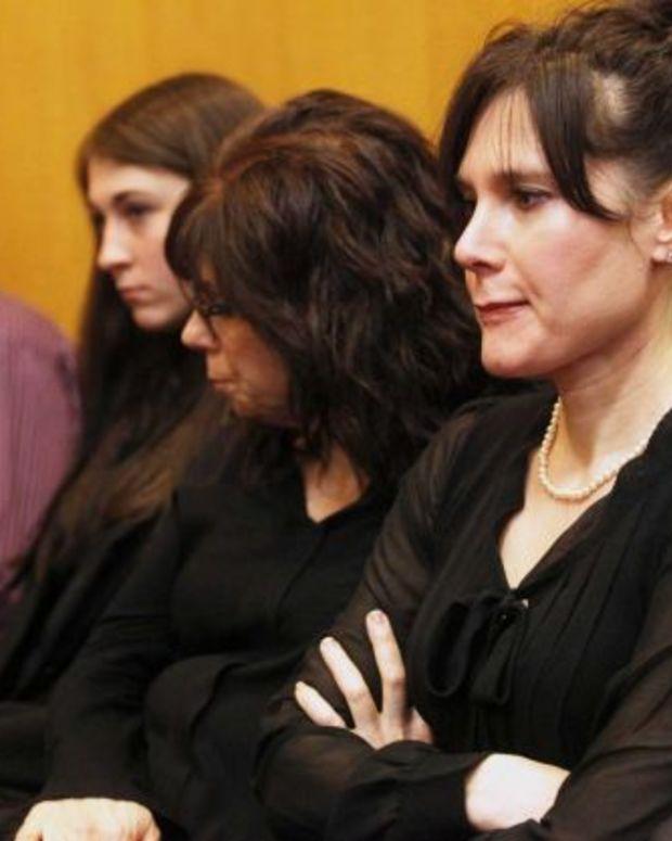 Jennifer Hoffman (right) calls her mother a monster.