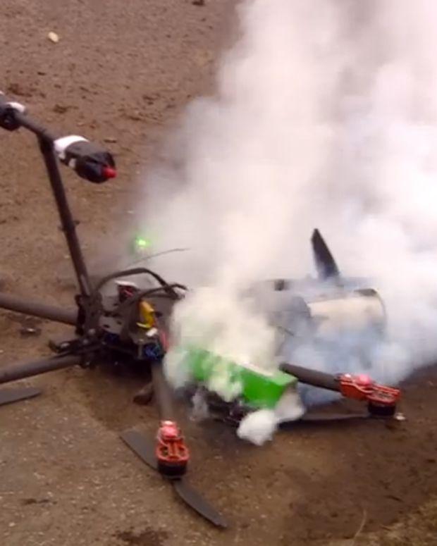 Crashed Drone.
