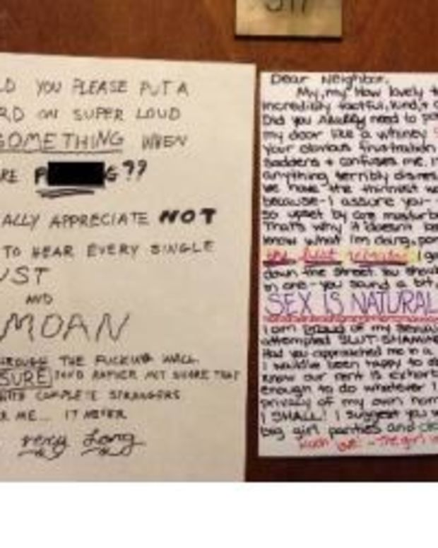 Here's How One Woman Responded After Her Neighbor Left A Note About Her Sex Life (Photo) Promo Image