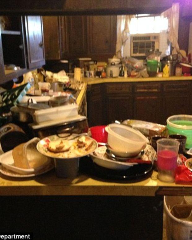 Trash in the Leblanc home