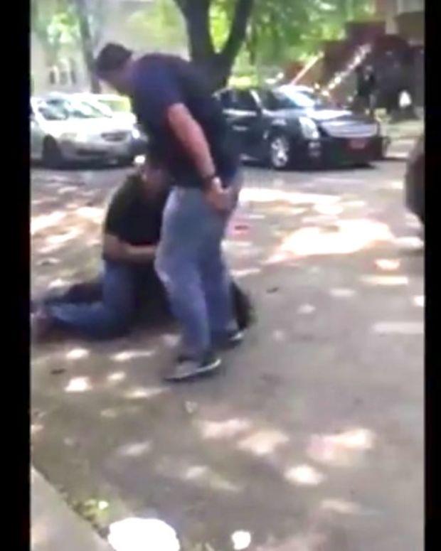 Chicago Cop Kicks Black Man In Head (Video) Promo Image