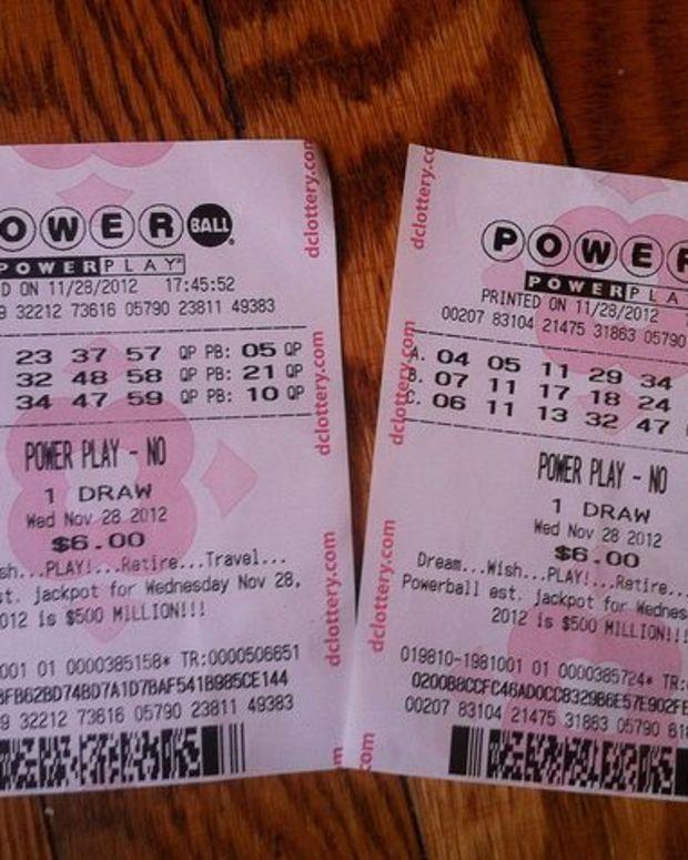 Powerball Ticket.