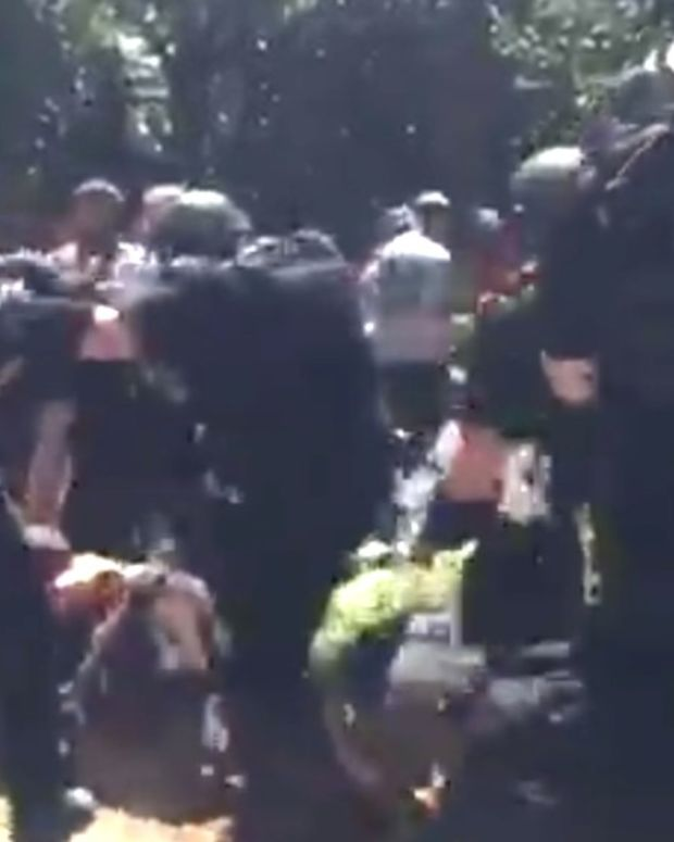 Stabbings At California White Supremacist Rally (Video) Promo Image