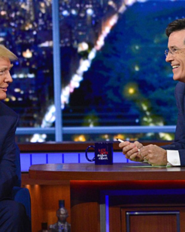 """Donald Trump and Stephen Colbert on """"The Late Show"""""""
