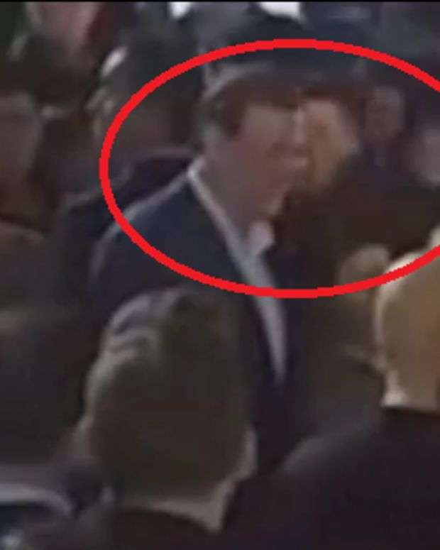 Spanish Prime Minister Mariano Rajoy getting punched by teen