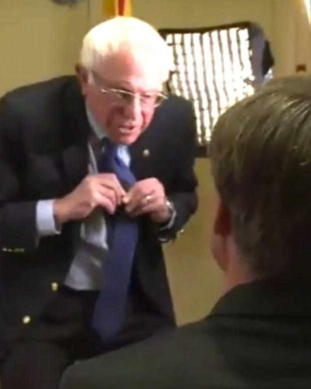 Sen. Bernie Sanders Walks Out Of Interview (Video) Promo Image