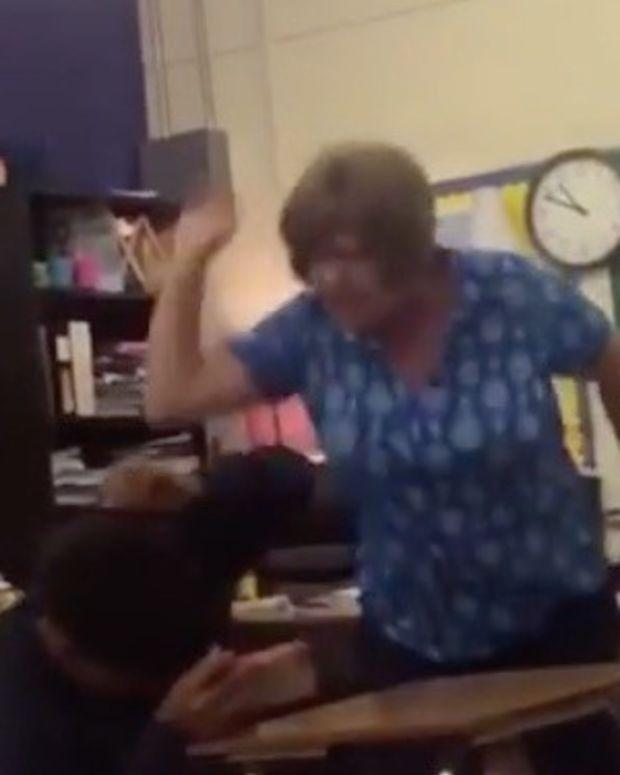 Teacher Caught Hitting Student (Video) Promo Image