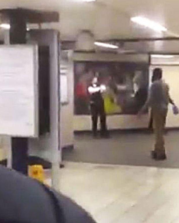the scene of a terrorist attack in london