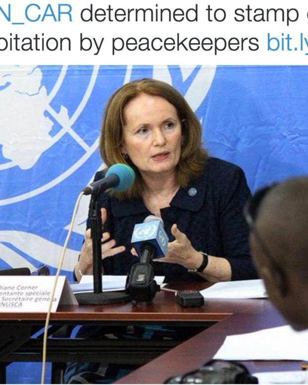 Diane Corner, Deputy Head of the U.N. Multidimensional Integrated Stabilization Mission in the C.A.R.