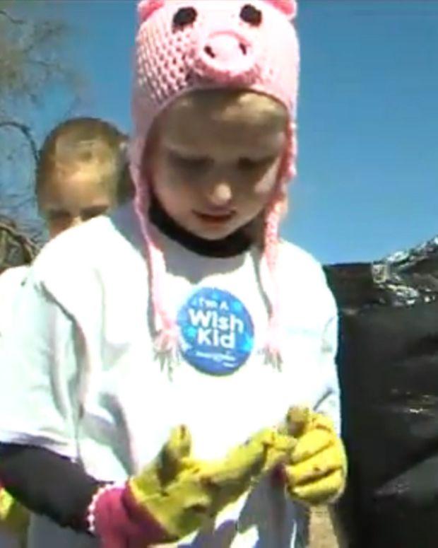 Girl Battling Brain Cancer Asks To Clean Up Parks Promo Image