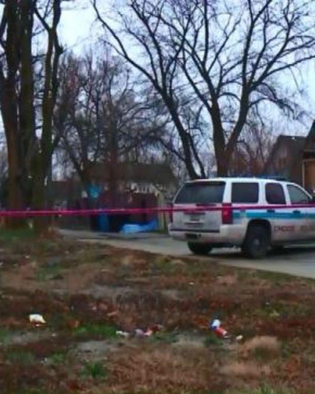 Crime scene where woman's body was found in suitcase