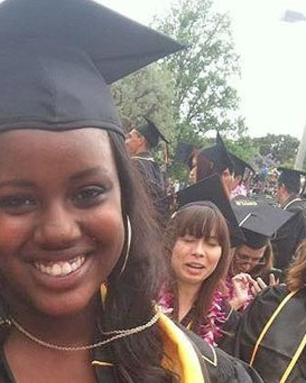 Woman's Controversial Graduation Picture Sparks Debate (Photo) Promo Image