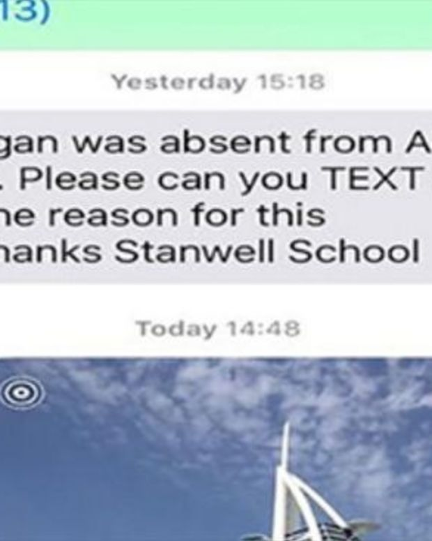Father Text Messages School Photo To Explain Son's Absence (Photos) Promo Image