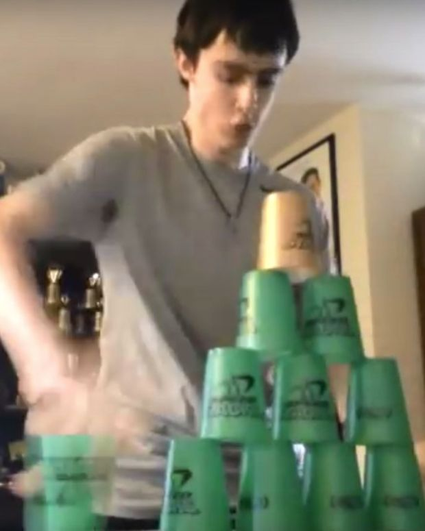 Cup Stacking Becoming A Popular Sport (Video) Promo Image