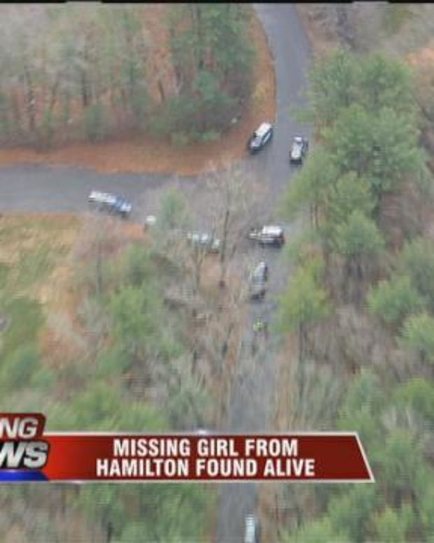 aerial view of police cars swarming area where Lyndon Albers was found