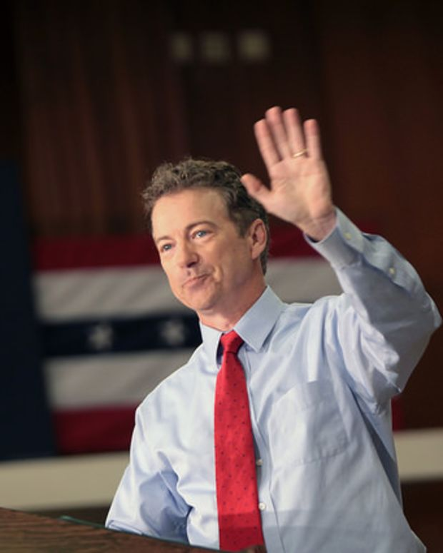 Republican presidential candidate and Kentucky Senator Rand Paul