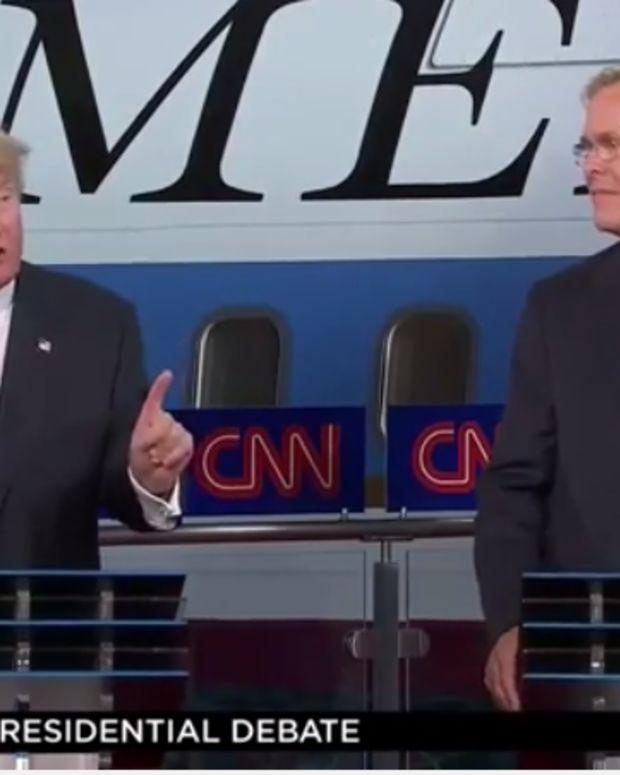 Donald Trump and Jeb Bush, GOP Debate screenshot