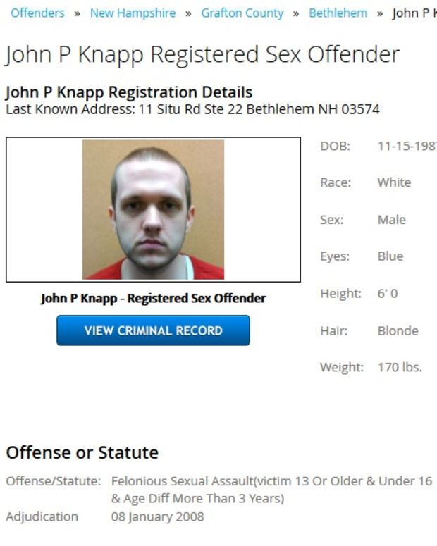 New Hampshire Sex Offenders Database.