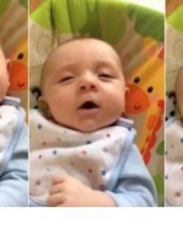 Parents Left Stunned After Hearing 7-Week-Old Baby's First Words (Video) Promo Image