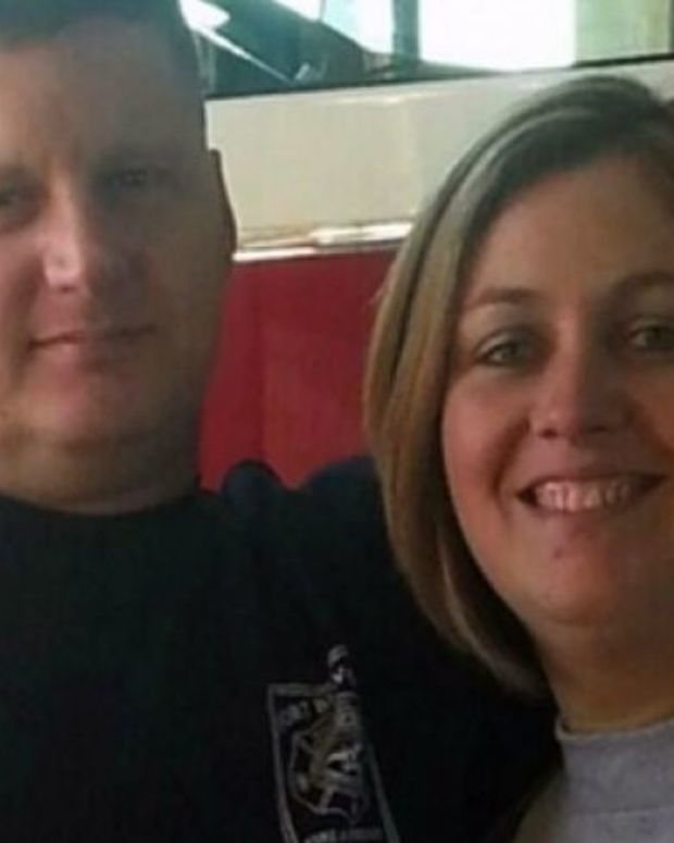 John Kevin Wood with his wife, Melissa