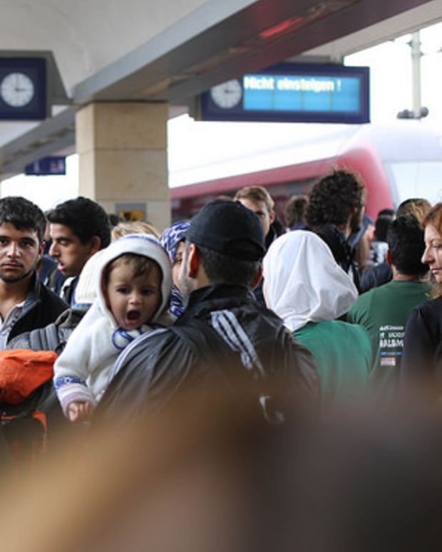 Syrian Refugees Trying To Gain Asylum In Europe.