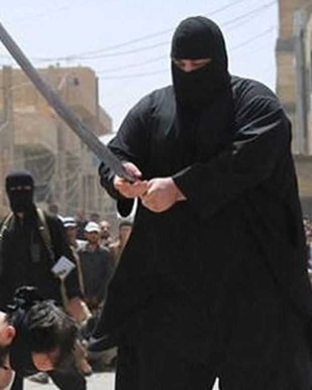 ISIS Executioner Preparing To Behead Father And Son Gets Hit With A Healthy Dose Of Karma  Promo Image