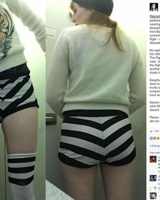 Airline Crew Says Woman's Shorts Too Short To Fly Promo Image