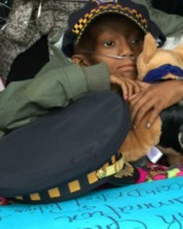 6-Year-Old With Cancer Made Honorary Police Officer Promo Image