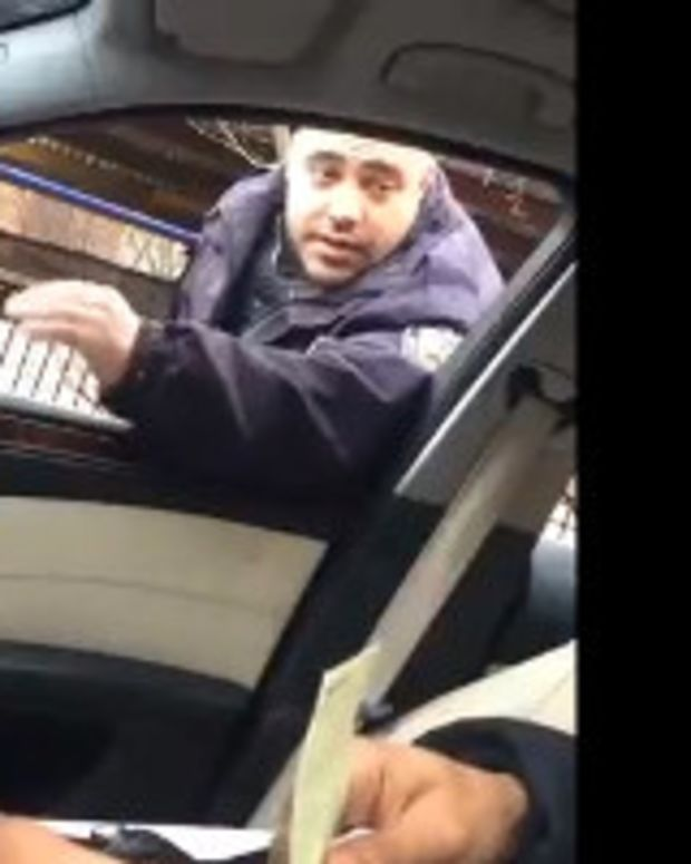 NYPD Cop To Driver: Blame De Blasio For Ticket (Video) Promo Image