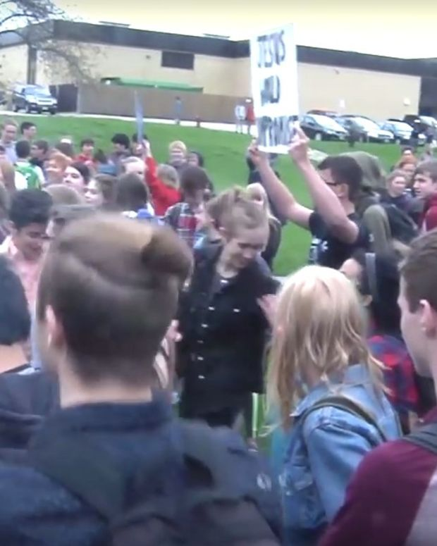 Angry Protests At 'Jesus Lunch' In Wisconsin (Video) Promo Image