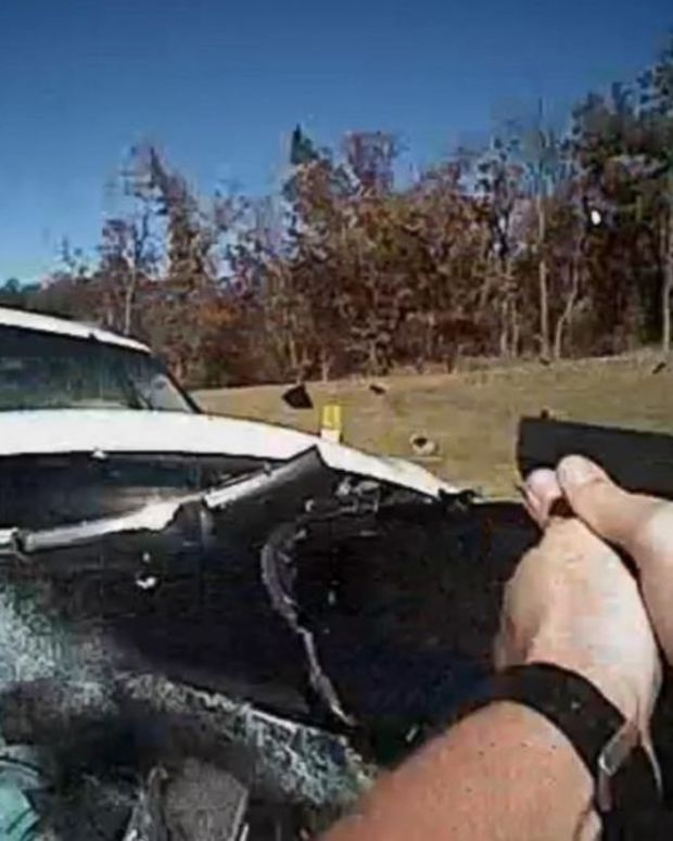 police cruiser getting hit by stolen vehicle