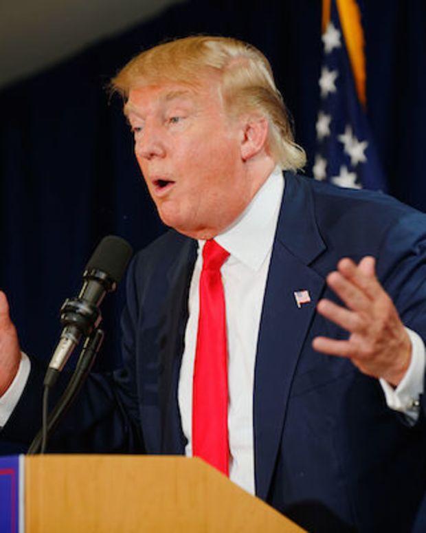 donald trump during a speech