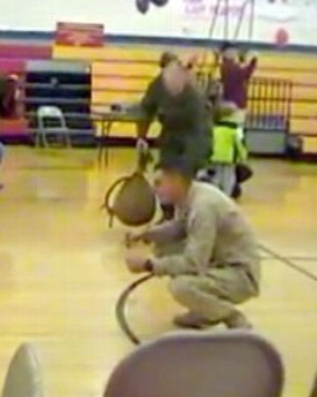 Marine Sees Son With Cerebral Palsy Walk (Video) Promo Image