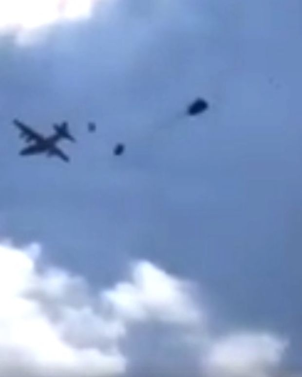 Three Humvees Free Fall From U.S. Army Planes (Video) Promo Image