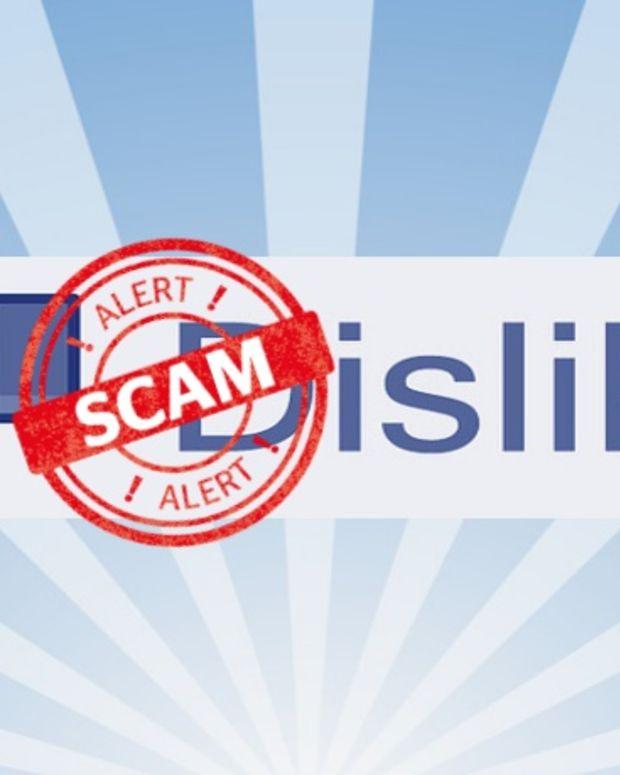 Facebook dislike button scam.