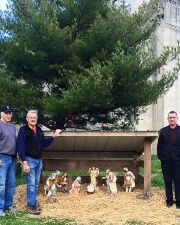 A Nativity Scene At Jefferson County Courthouse