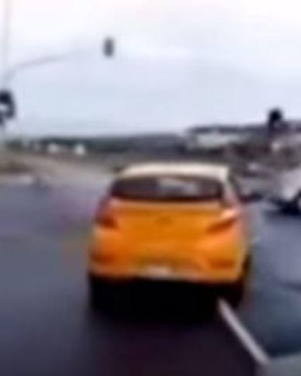Dash Cam Catches 'Ghost Car' Before Crash (Video) Promo Image