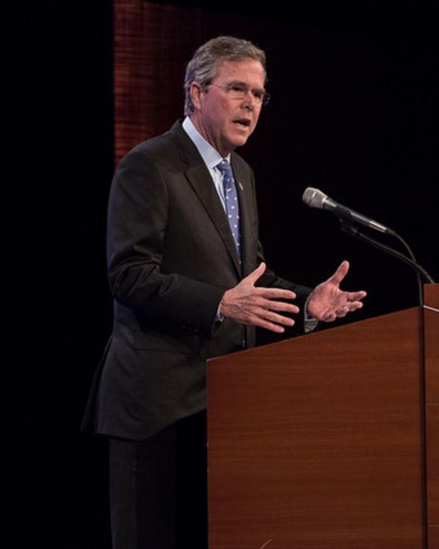 Jeb Bush Speaking At Podium