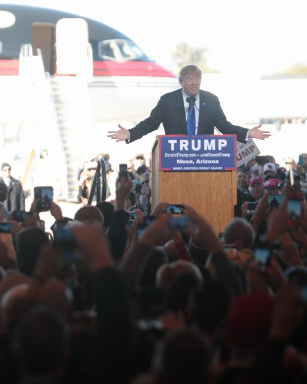 Donald Trump at a campaign rally