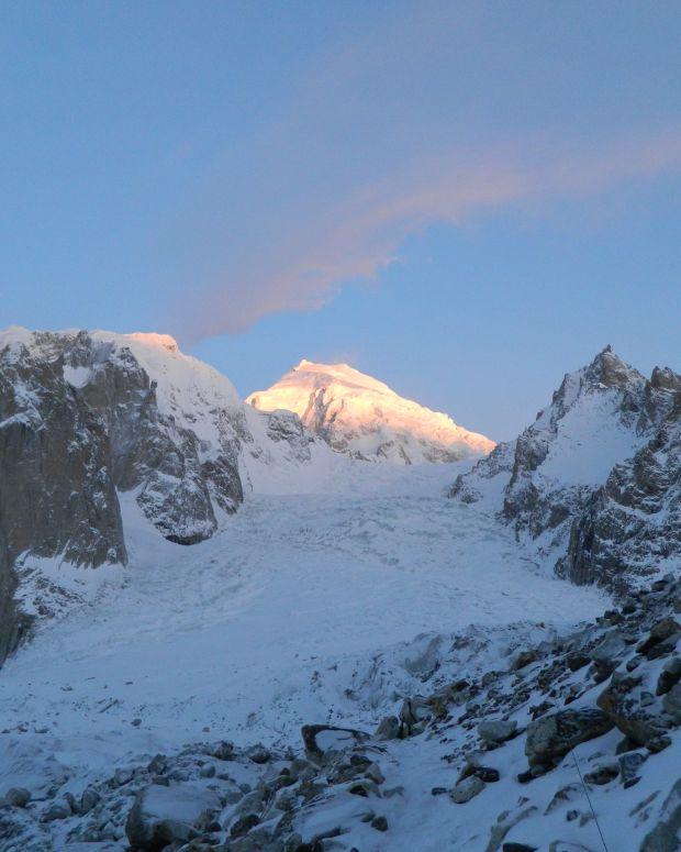 Siachen glacier at sunset