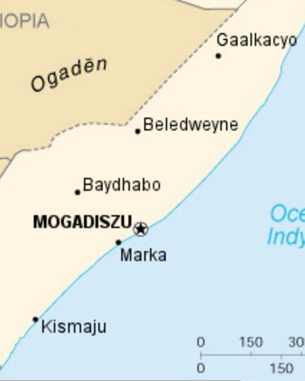 Map of Somalia, where the explosion occurred