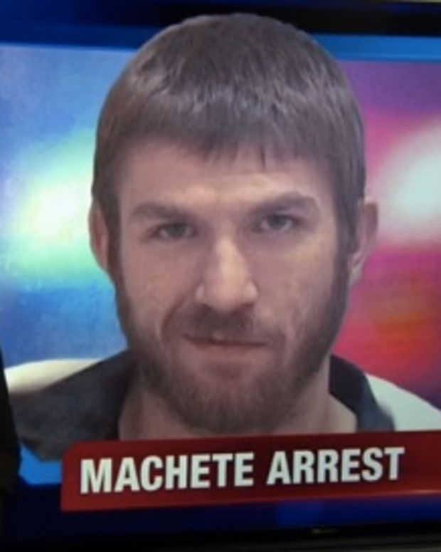 Thomson Was Arrested After Chasing The Homeowner With A Machete